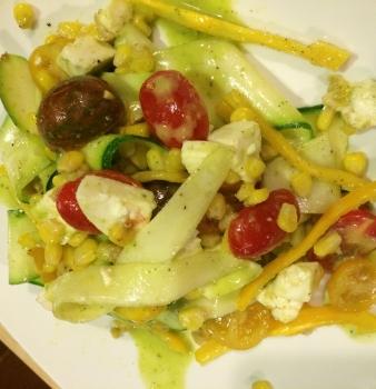Squash Salad w/ Basil Vinaigrette